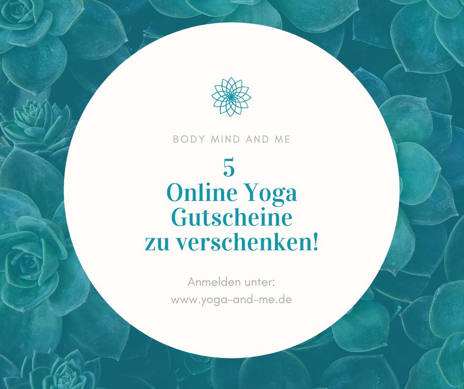Online Yoga Gutschein